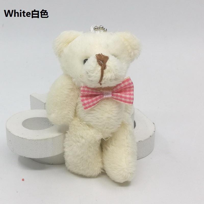 67d09127c35 ... 2017 New Mini Plaid Tie Jointed Bear Plush Toys Cute Small Teddy Bear  Dolls Key Bag ...