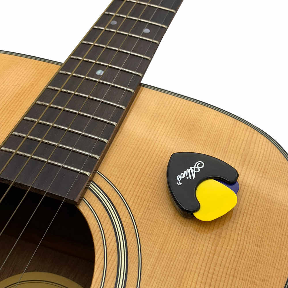 1 piece Alice Guitar Pick Holder Plastic Plectrum Case Mediator Quick Storage Self Adhesive Triangle Shape 7 Options for Color