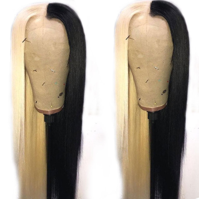13*4 Lace Front Human Hair Wigs Non Remy Pre Plucked Transparent Lace Wig Brazilian Straight Lace Front Wig For Black Women 2