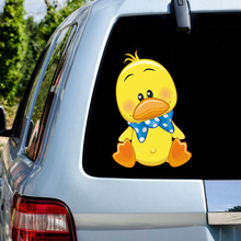Cute Yellow Duck Car Decoration Gift Toy Cartoon Doll stickers Styling Accessories Series Decals