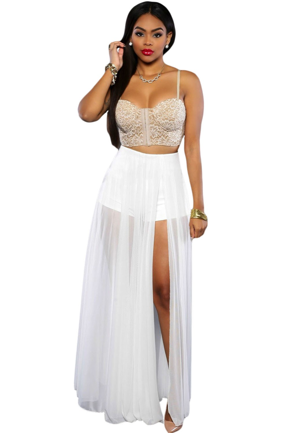 White-Sheer-Slit-Panty-Luxe-Maxi-Skirt-LC65000-1-1