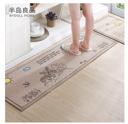50X80 CM + 50X160 CM/Set paillasson antidérapant tapis de cuisine/tapis de bain accueil entrée tapis de sol couloir tapis tapis de cuisine - 6