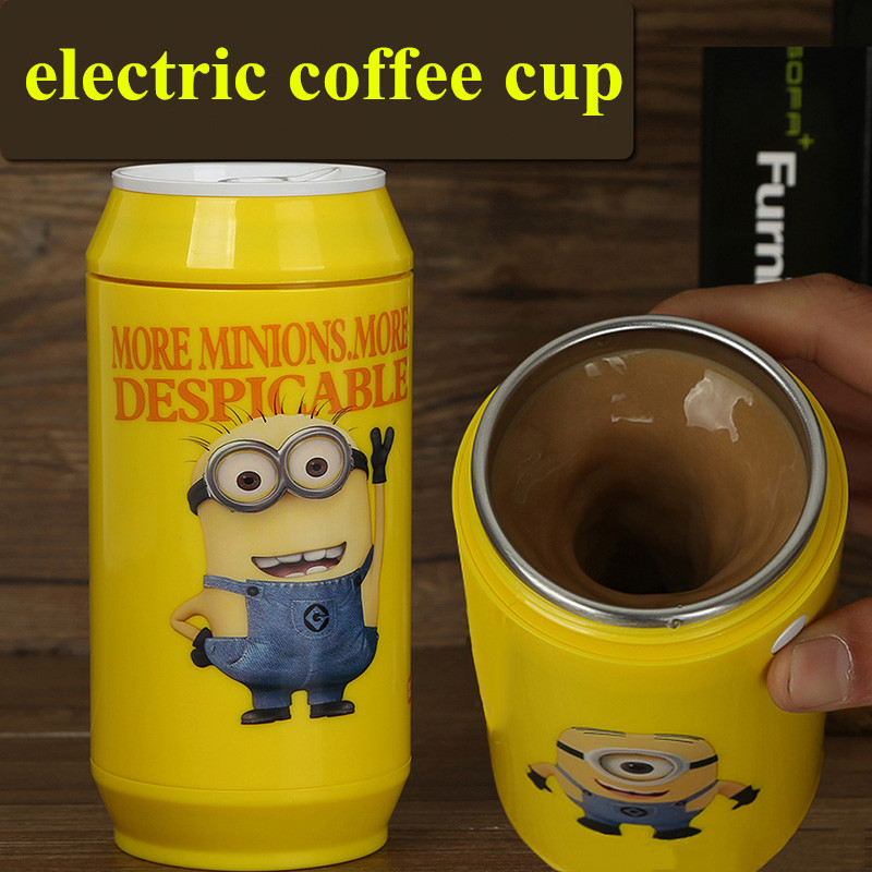 Hot Sale Self Stirring Minions Mug Electric Coffee Cup Smart Cans Mugs Automatic Electric Coffee Cups