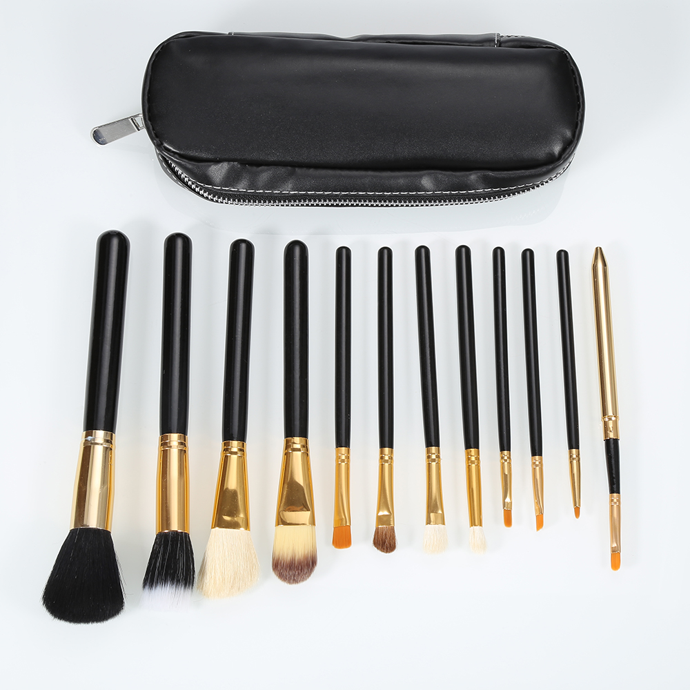 New Arrival Makeup Brushes Set High Quality 12Pcs Makeup Tools Kit Full Function  Powder Foundation Brush with Black Bag  high quality 46pcs set chisel portable vegetable food fruit carving tool kit with bag new arrival
