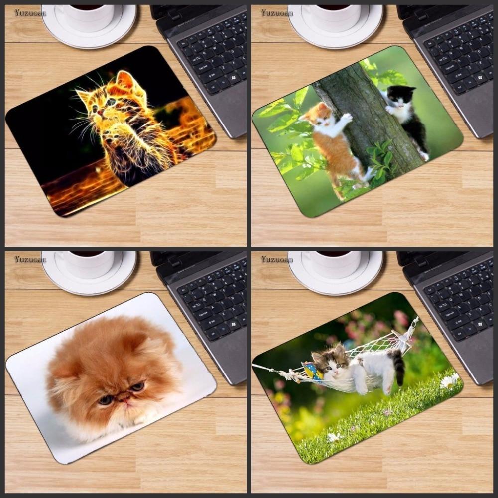 Yuzuoan Большие Акции милый кот изображение противоскользящие ноутбука PC Мыши Мат Мышь  ...