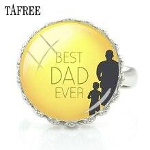 2e926ecead68 TAFREE el mejor papá nunca anillos padre papá moda joyería mejor regalo  para el padre de