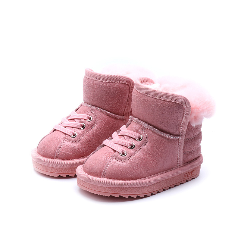 Winter Fashion child girls boys snow boots shoes warm plush soft bottom baby girls boots winter snow boot for baby lovely toddler first walkers baby boys and girls cotton shoes soft bottom hook sneakers i love mom dad
