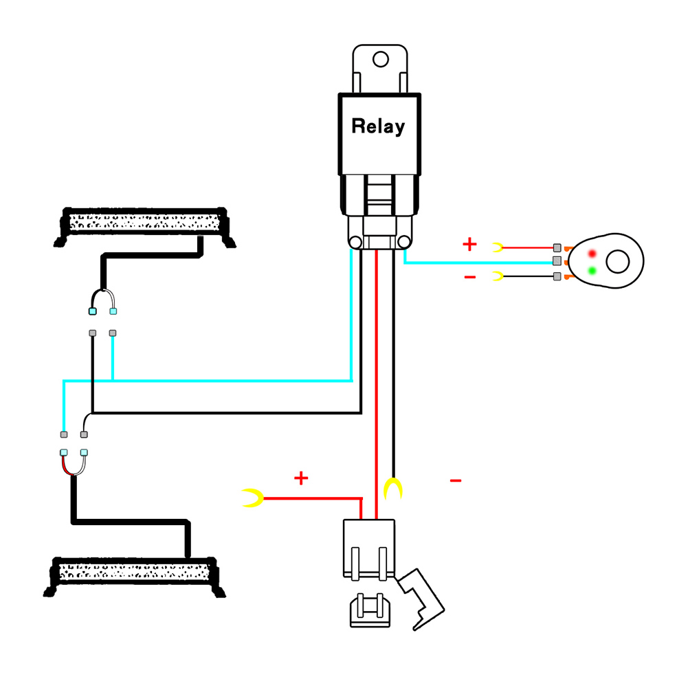 wiring harness wire switch relay kit for connect work driving led ... spotlight wiring diagram 4 pin relay  www.aliexpress.com