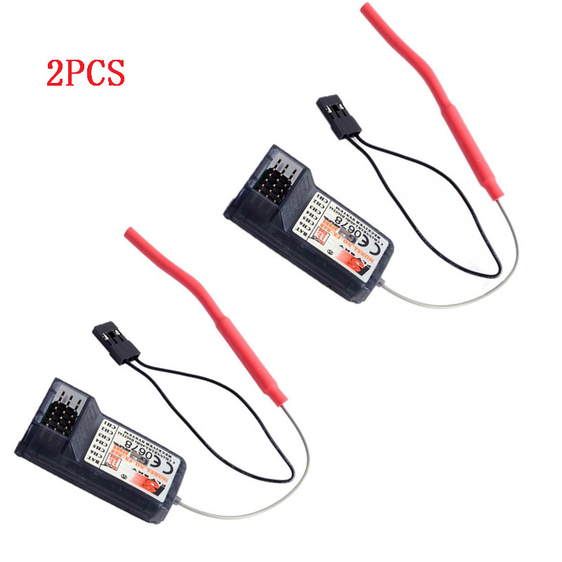 2pc FS-R6B FlySky 2.4Ghz 6CH FS R6B receiver For RC FS-CT6B TH9x i6 i10 T6 CT6B Transmitter Remote Control Parts