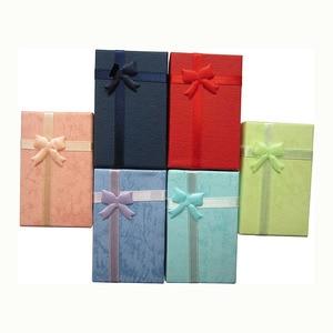 Image 5 - 32 sztuk pudełka na prezenty papierowe na opakowanie na biżuterie 5*8*2.5cm pierścień kolczyki naszyjnik uchwyt wyświetlacz nowy rok boże narodzenie/prezent ślubny