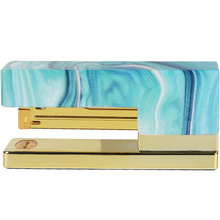 Light Blue Stapler Heavy Duty Desktop Spring Power Stapler Gold Rod Jam Free Home Office Bookbinding Supplies with Non-slip Mat цены онлайн