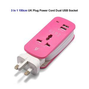UK British Plug Power Extensio