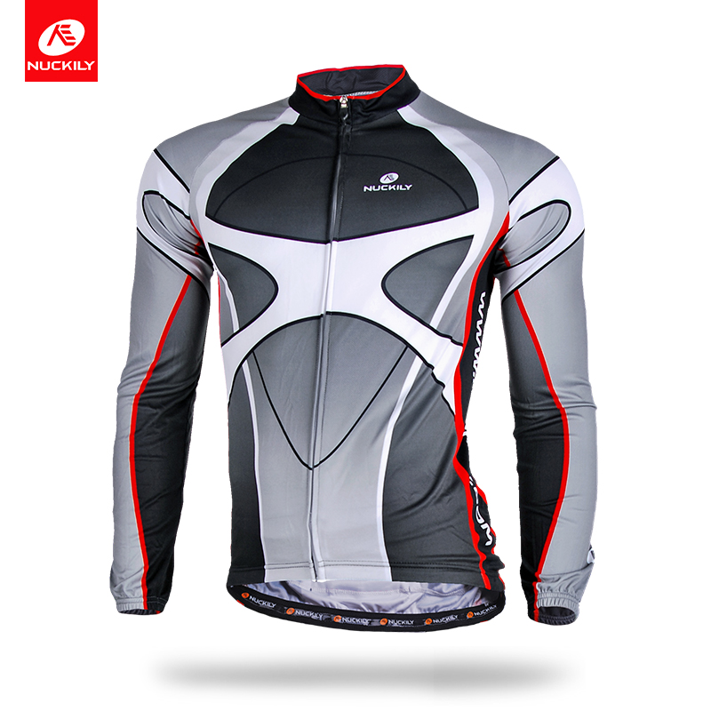 NUCKILY Winter Thermal Cycling Jersey Men Long Sleeve Bicycle Wear Wind Protection Sport Clothes ME005