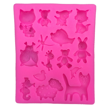 Cartoon bear cat animal Shape fondant cake silicone moulds chocolate jelly pastry candy Clay decoration kitchen Baking tool 0192(China)
