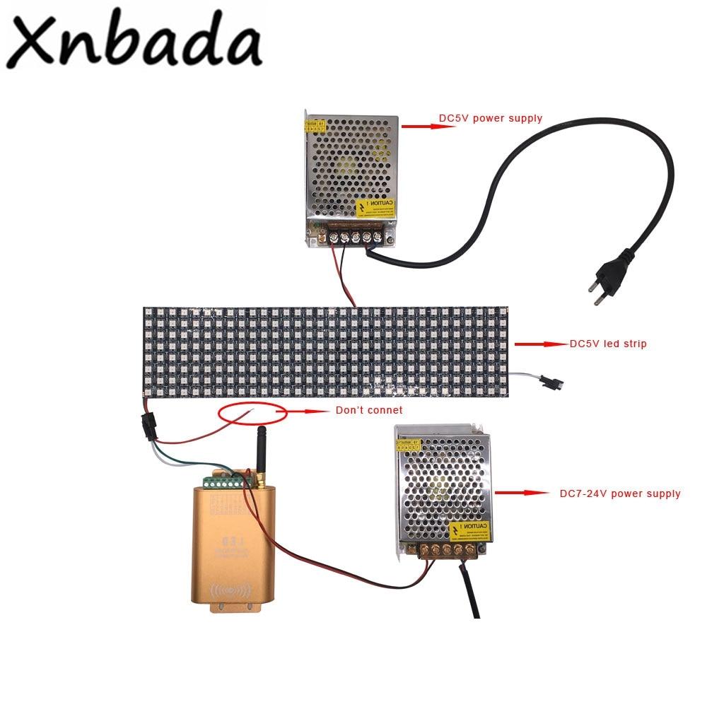 DC7-24V Wifi Music Controller Strip Light SPI Controller 2048 Pixel LED Digital Addressable Controller For DC5V 8*32 LED Panel