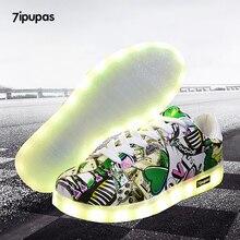 7ipupas 27-44 led Luminous Shoes With light,Unisex simulation sole superstar led