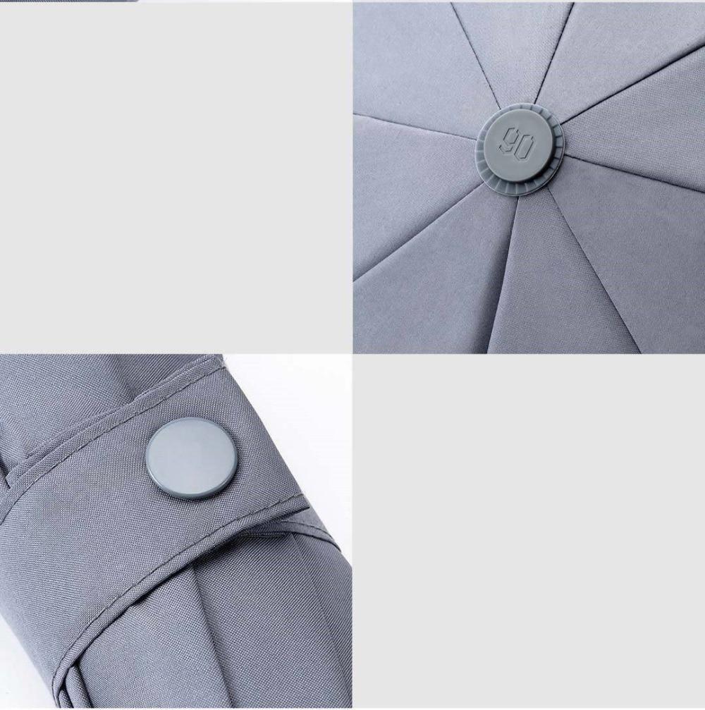 90FUN Umbrella Three Folding Sun Rain Aluminum Umbrella Sun Protection UV Ultralight Big Umbrella UPF40 Unisex Portable in Travel Accessories from Luggage Bags