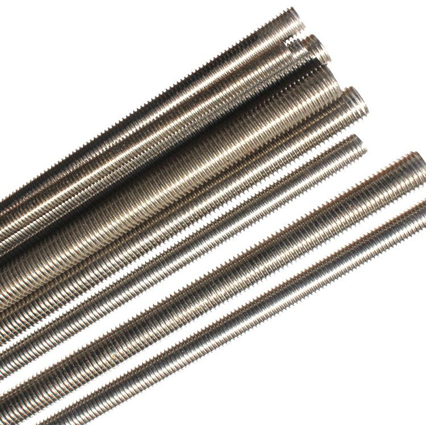 Titanium Bolt M3M4M5M6M8M10M12M14M16 500mm Full Thread Bar Studding Rod Not Polished Grade 2 Titanium Screw Ti Fastener