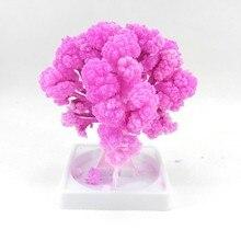 iWish 10x8cm 2017 Hârtie artificială Magic Sakura Copaci Magic Crăciun în creștere Copac Desktop Cireș Blossom Copii Jucării cadou 20PCS