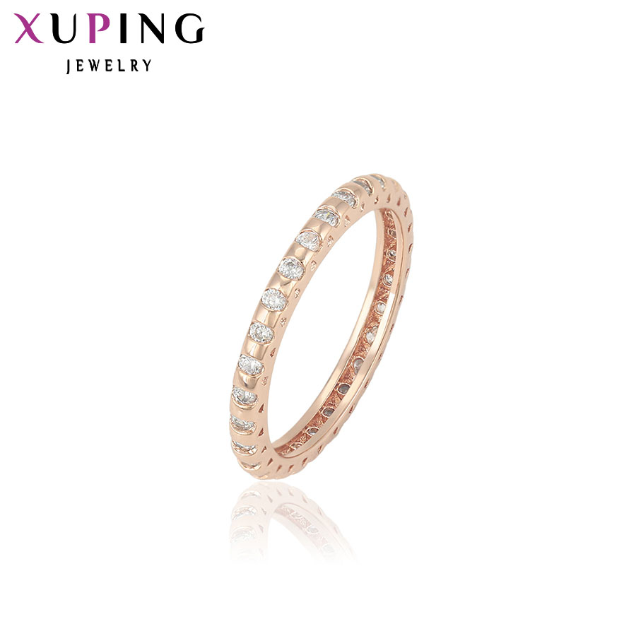 Xuping Fashion Ring Special Design Rings Women High Quality Gold Color Plated Jewelry Charm Christmas Gift 13437