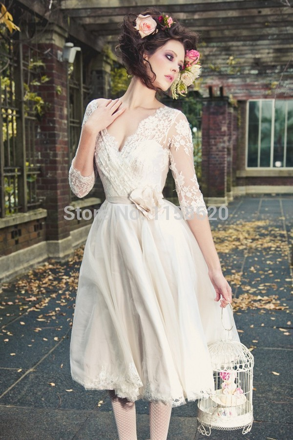 Casual Beach Wedding Dress Short Sleeve Dresses Plus Size Guest ...