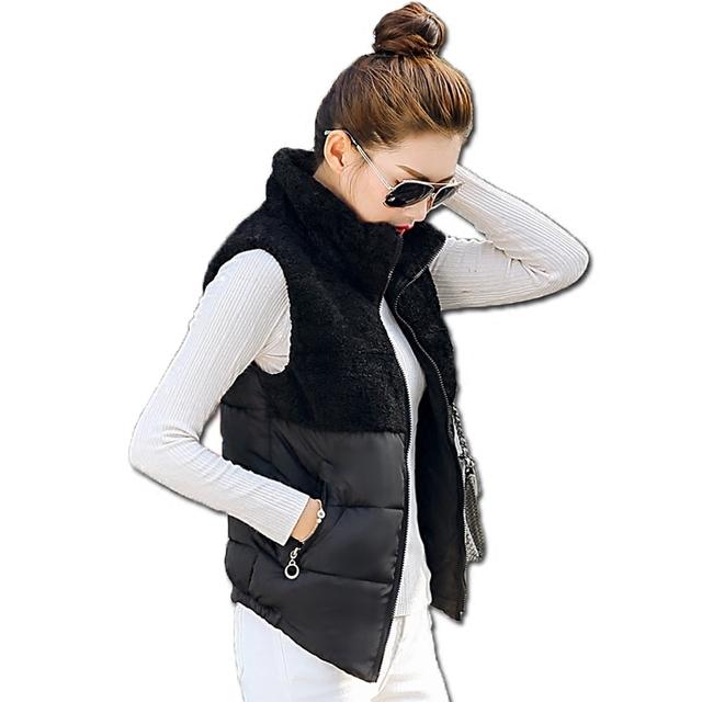 El nuevo otoño y el invierno de 2016, la sra. chaleco chaleco abajo chaleco de algodón de moda de Corea modelos femeninos Sra. marea chaleco de cuello