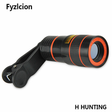 On sale 8X Zoom Optical Telescope Camera Wide Angle Lens Mobile Phone Lenes For iPhone 7 Lens iPhone 5s 5 6 6s Plus 7 Plus Lens