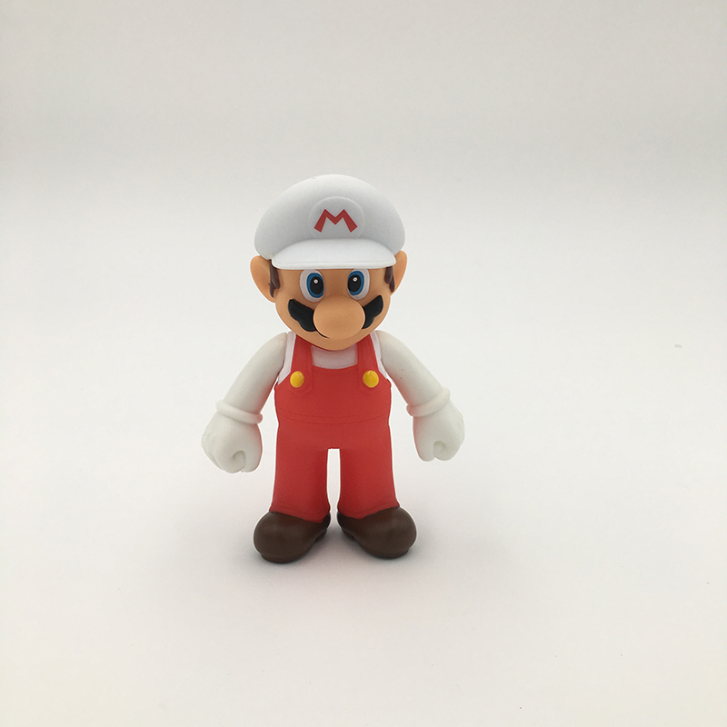 13 см Super Mario Bros Luigi Mario Yoshi Koopa Yoshi Mario Maker Odyssey Mushroom Toadette ПВХ Фигурки игрушки модель куклы