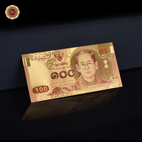 Normal Colour Gold Plated Banknote Thailand 100 Baht Made In China Normal For Gift