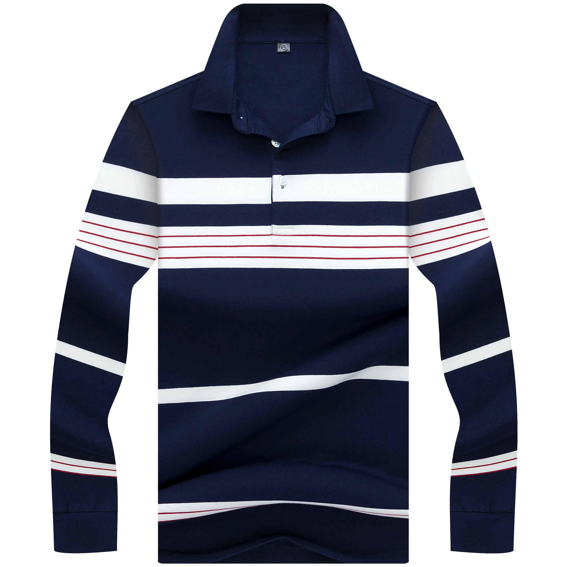 2018 Top Quality Winter Long sleeve   Polo   Shirt Striped Business brand   polo   Shirts Casual horse poloshirts