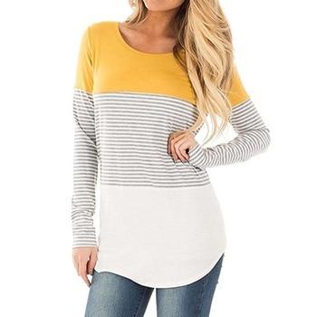 Long Sleeve T-shirt women striped top tee