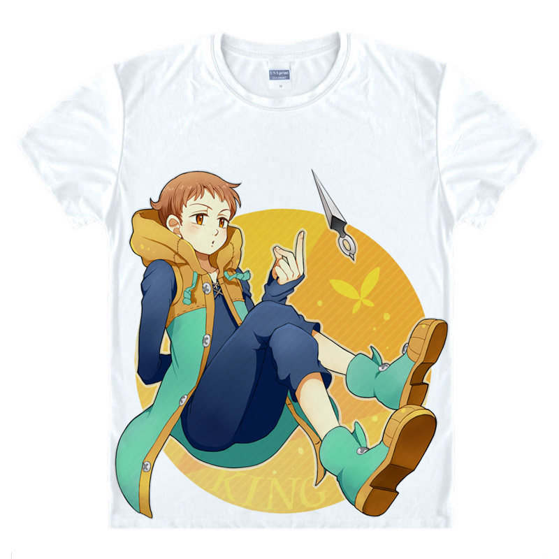 The Seven Deadly Sins T Shirt King Harlequin Shirt anime