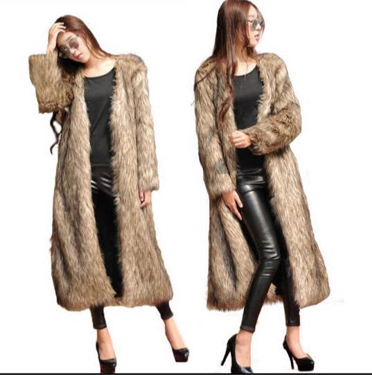 Outwear Femmes 2018 Furry Veste Z328 De Taille Artificielle Femme Fluffy Faux Hiver Plus Fourrure Fausse Manteau qg1F6F