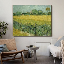 Iris Scenery in Alle Vincent Van Gogh Poster Print Canvas Painting Calligraphy Wall Picture for Living Room Bedroom Home Decor