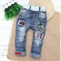 Infantil Chicos Vaqueros Pantalones de Bebé Niños Primavera Marea Ssection 2016 Nuevo Estilo Pantalones Vaqueros Rasgados para Los Niños Jean Garcon