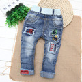 Kids Boys Jeans Pants Baby Boy Children Tide Spring Ssection 2016 New Style Trousers Ripped Jeans for Kids Jean Garcon