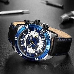Image 4 - Megir marca de luxo relógio cronógrafo masculino relógios homem à prova dwaterproof água data esporte militar relógio quartzo masculino montre homme