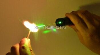 Kostprijs Militaire 100000 M 100 W 532nm Hoog Aangedreven Focusseerbaar Groene Laser Pointer Licht Brandende Lucifers Branden Sigaretten + geschenkdoos