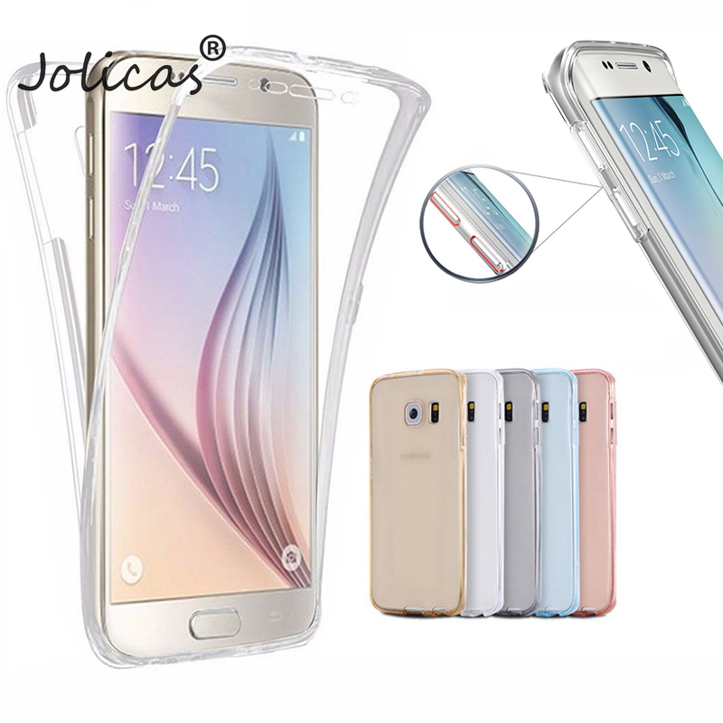 360 Full body TPU Case For Samsung A01 A81 A50 A30 <font><b>A20</b></font> A10 A40 A91 A60 A70 Phone Shell Cover Galaxy Note 10 Lite 9 8 10 Pro <font><b>capa</b></font> image