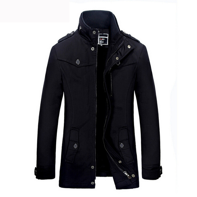 High Quality Winter Coat Men Casual Thick Plus velvet Warm Jacket Mens Cotton Stand collar Windbreaker Jackets Outwear Coat