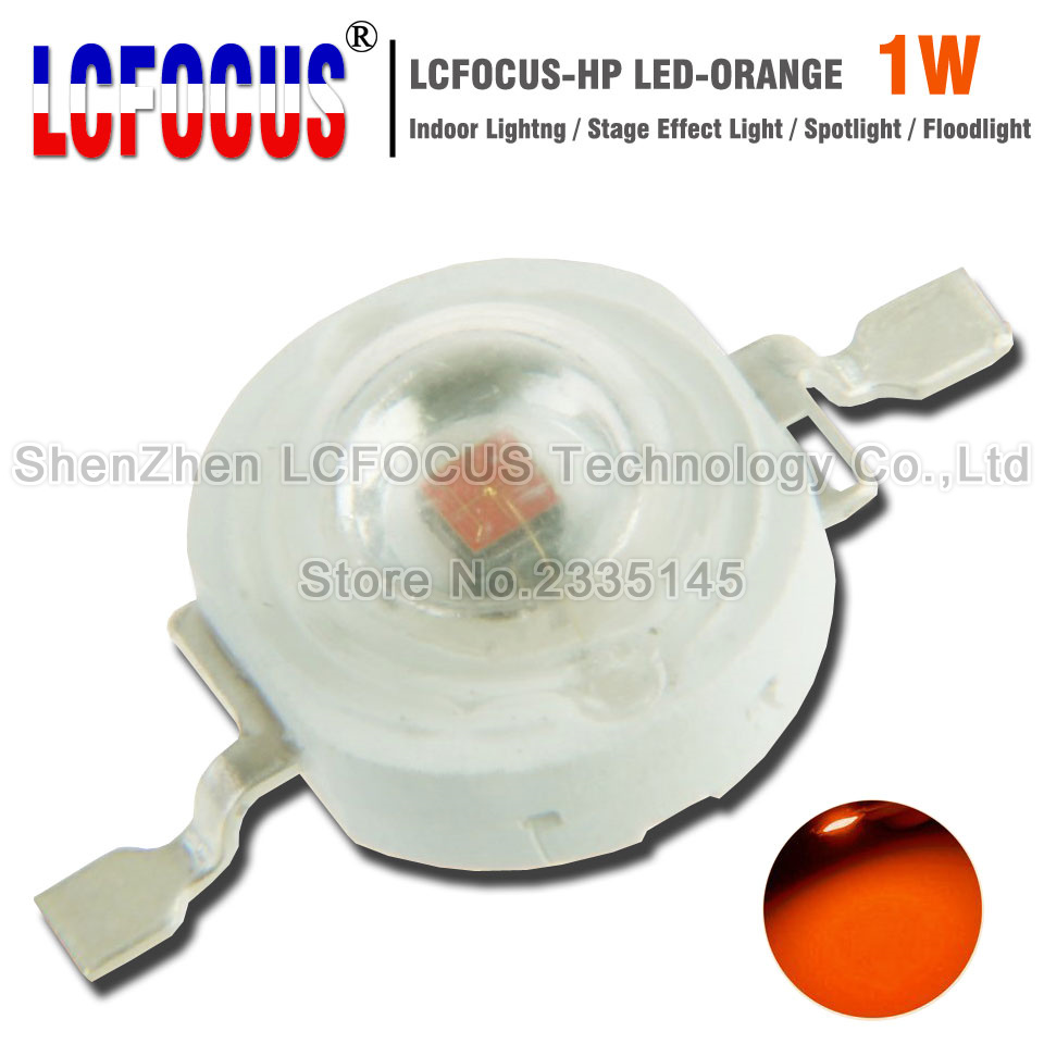 High Power LED Chip 1W Orange 600-605nm COB DIY Spotlight Stage Light Floodlight Landscape Lighting For 1W 3W Watt Light Beads