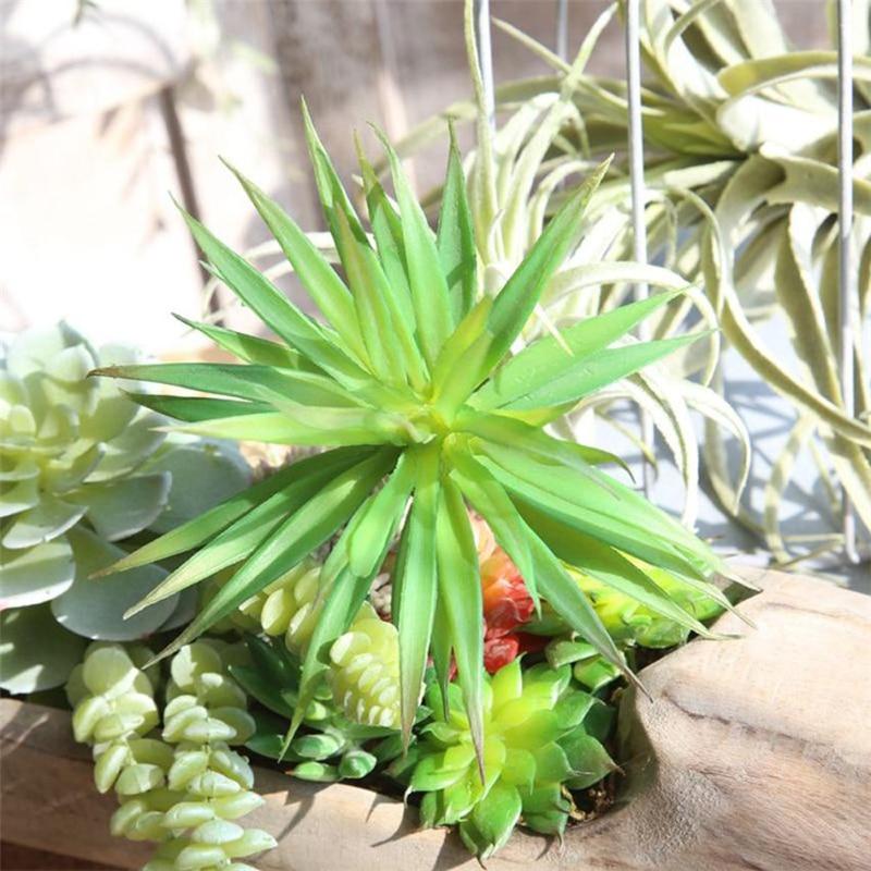 Искусственный Пластик миниатюрные суккуленты завод Echeveria цветок трава Home Decor изн ...