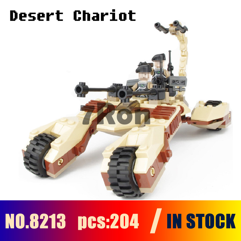Compatible with lego Models building kits 8213 204pcs Star Earth Border Desert Strike Chariot Building Blocks toys & hobbies
