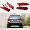 2 Pcs Cauda Red Rear Bumper Luz LED ReflectorStop Brake Fog Lâmpada Para Ford Focus 2012