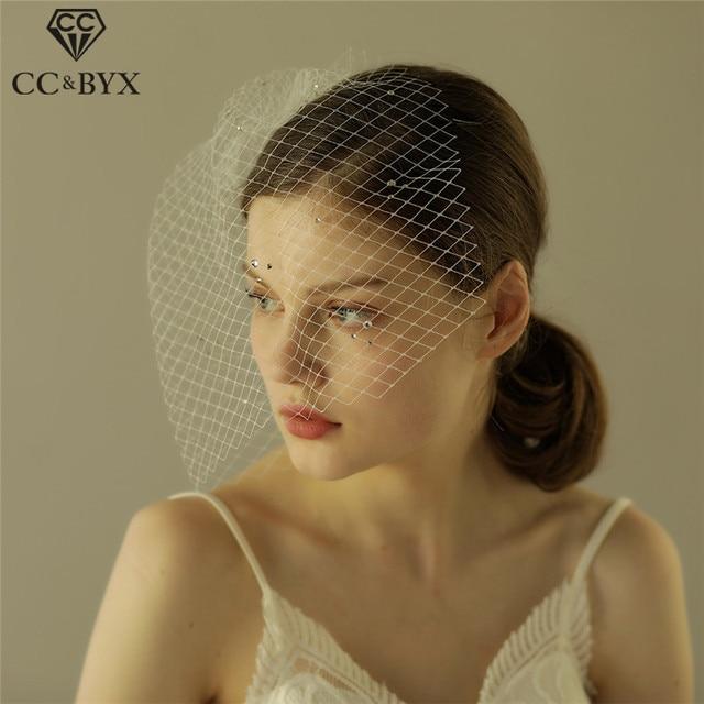 CC De Mariée De Mariage Voile Court De Cheveux De Fil Accessoires Hairwear  Élégant Mariées Engagement
