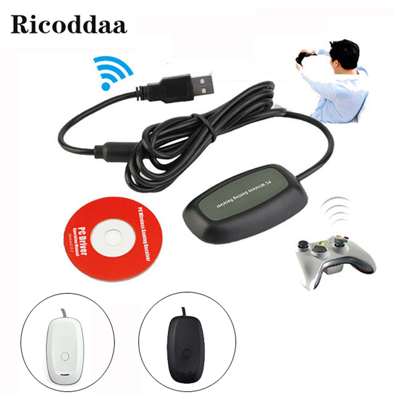 For Xbox 360 <font><b>Wireless</b></font> Gamepad <font><b>PC</b></font> <font><b>Adapter</b></font> <font><b>USB</b></font> <font><b>Receiver</b></font> Supports For Win8 System For Microsoft Xbox360 <font><b>Gaming</b></font> <font><b>Controller</b></font> Console image