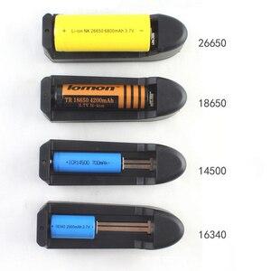 Image 2 - EU Caricabatterie Universale Per 3.7V 18650 26650 16340 14500 Li Ion Ricaricabile Batteria Singolo slot caricatore automatico