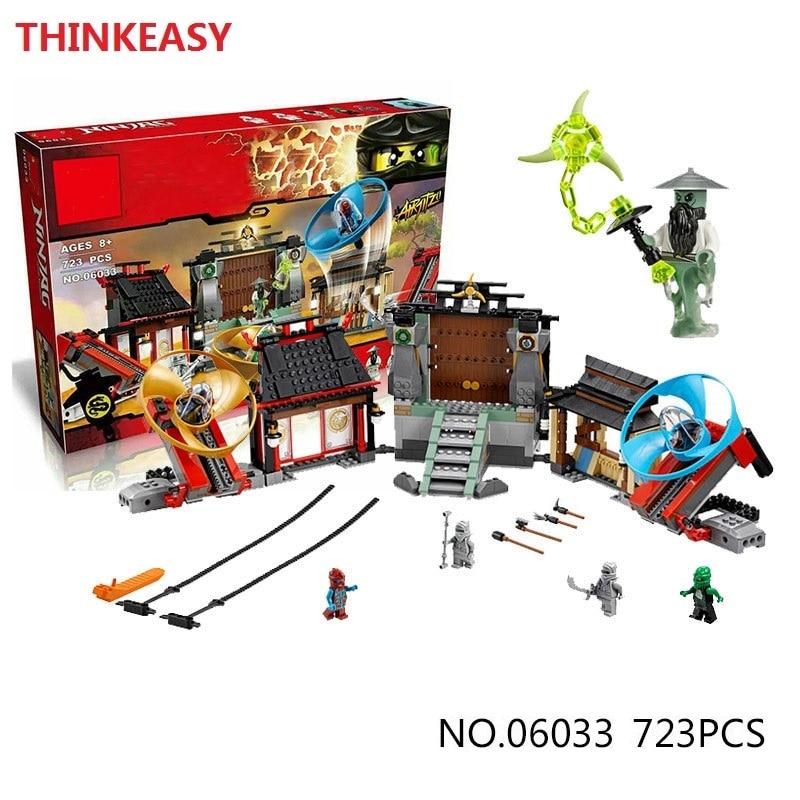 ФОТО Lepin 06033 Compatible Ninjagoes figures Advanced Ninja Battle field 70590 Building Bricks Ninja Figure Toys For Children