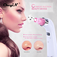 CkeyiN Portable Blackhead Removal Comedo Suction Beauty Device For Face Nose Acne Removal Skin Microdermabrasion Peeling