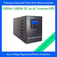 CE RoHS Pure Sine Wave Inverter Charger Homeuse 1500W LCD LED RS232 DC 24V 48V To